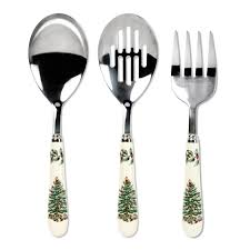 Cutlery Sets Spode Christmas Tree 3 Piece Cutlery Set Spode Usa