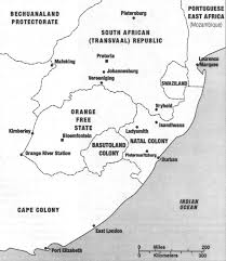 Blank Map Of South Africa Provinces by The Boer War Remembered