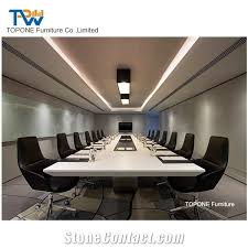 marble conference room table luxury high quality artificial marble stone office table tops