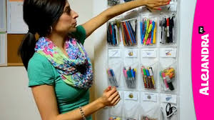 alejandra tv video school supply organization how to organize small supplies