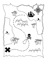 free printable pirate map a fun coloring page for the kids