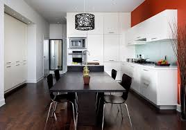 Black And White Contemporary Kitchen - red black and white interiors living rooms kitchens bedrooms