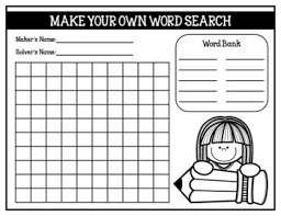 make own word search make your own word search student created word searches by for a
