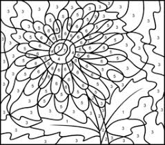 difficult color number printables gerbera printable color