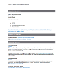 sample syllabus template 8 free documents download in pdf