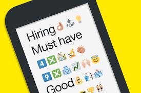 emojis in job posts yes or no