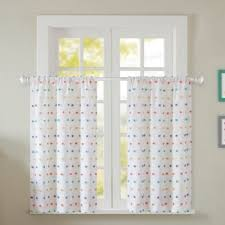 Embroidered Curtain Panels Buy White Embroidered Curtain Panel From Bed Bath U0026 Beyond