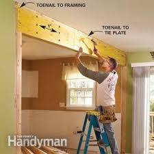 Temporary Bedroom Walls How To Install A Load Bearing Wall Beam Family Handyman