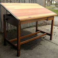 Wood Drafting Table Furniture Wooden Vintage Drafting Table For Sale Antique