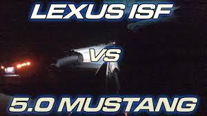 turbo lexus flips 5 0 mustang vs lexus isf roll races youtube
