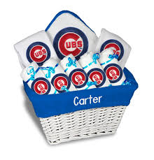 chicago gift baskets personalized chicago cubs large gift basket mlb baby gift