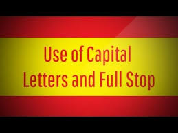 use of capital letters and full stop youtube