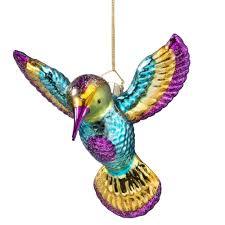 hummingbird glass ornament