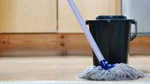 mopping floor stock footage