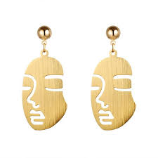 human earrings premier cessories metallic gold human earrings
