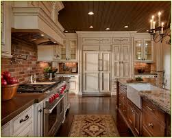 Photos Of Backsplashes In Kitchens Brick Backsplash Kitchen Home Design Ideas