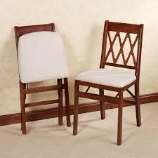 Dining Folding Chairs Lattice Back Folding Chair Pair