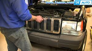how to install replace front radiator grille 1996 98 jeep grand
