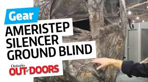 Ground Blind Reviews Ameristep Silencer Ground Blind Youtube