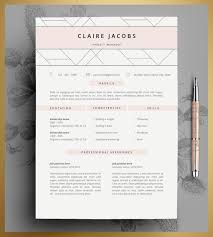 Creative Resume Templates For Microsoft Word Resume Template Cv Template Editable In Ms Word And Pages