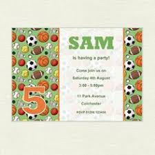 free printable sports birthday party invitations templates party