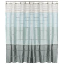 Polyester Shower Curtains Saturday Modena Stripe 72 In Polyester Shower Curtain
