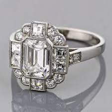 emerald cut art deco engagement rings wedding promise diamond