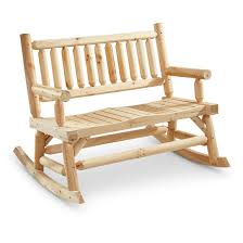 Wooden Patio Bench by Castlecreek 2 Seat Wooden Rocking Bench 657798 Patio Furniture