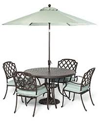 Outdoor Patio Furniture Macys - 7 piece outdoor dining set with round table