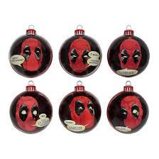 marvel deadpool baubles christmas ornaments merchoid
