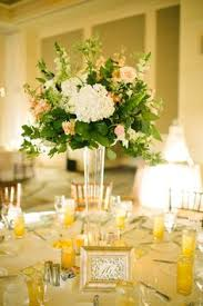 Trumpet Vase Wedding Centerpieces by Pilsner Vase With White Hydrangea Eucalyptus Dusty Miller