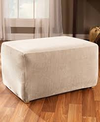 Stretch Ottoman Slipcover Sure Fit Stretch Stripe Ottoman Slipcover Slipcovers For The