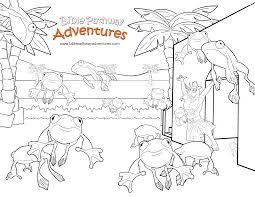 free bible coloring page plague of frogs ten plagues of egypt