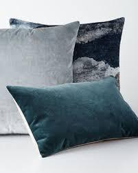 Metallic Cowhide Pillow Designer Pillows Fur U0026 Velvet Pillows At Neiman Marcus