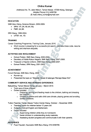 Resume Sample Cover Letter Pdf by Resume Bahasa Melayu Pdf Federal Sample Cover Letter Examples