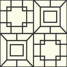 theorem geometric wallpaper in black and white by ashford house