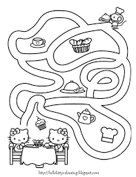 kitty printable coloring pages 2624 pics color