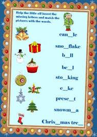 english teaching worksheets christmas vocabulary esl