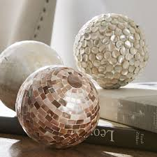 mother of pearl sphere set of 3 pier 1 imports