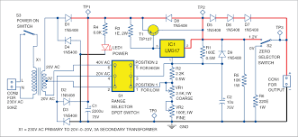 designing 0 50v variable power supply using lm317 ic