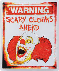 halloween party decorating ideas scary scary clown warning sign halloween prop circus gone wrong theme