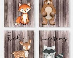 Woodland Animals Crib Bedding Woodland Nursery Boy Etsy