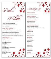 Diy Wedding Fans Templates Microsoft Office Wedding Program Templates Pacq Co