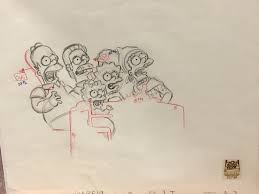 the simpsons family concept drawing with bart lisa and homer