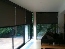 large varnished wooden patio doors