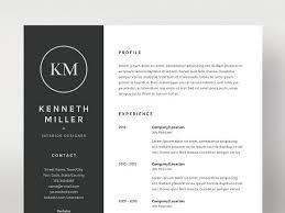 cv formats kenneth miller resume cv template resume templates creative