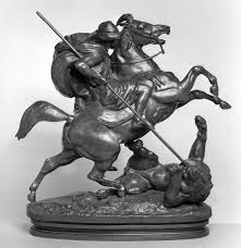 barye lion sculpture file antoine louis barye arab horseman killing a lion walters