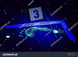 does uv light kill mold evidence footprint on place bathroom stock photo uv light of