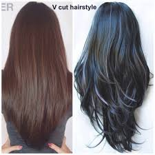 haircuts in layers awesome v style haircut with layers long layered v cut hairstyle