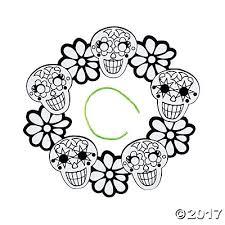 your own fuzzy sugar skull wreaths